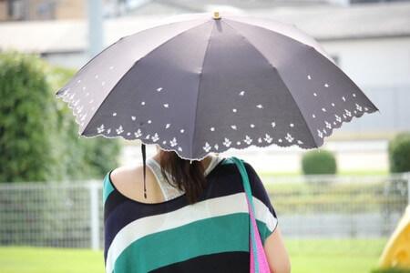 日傘をさす後ろ姿の女性